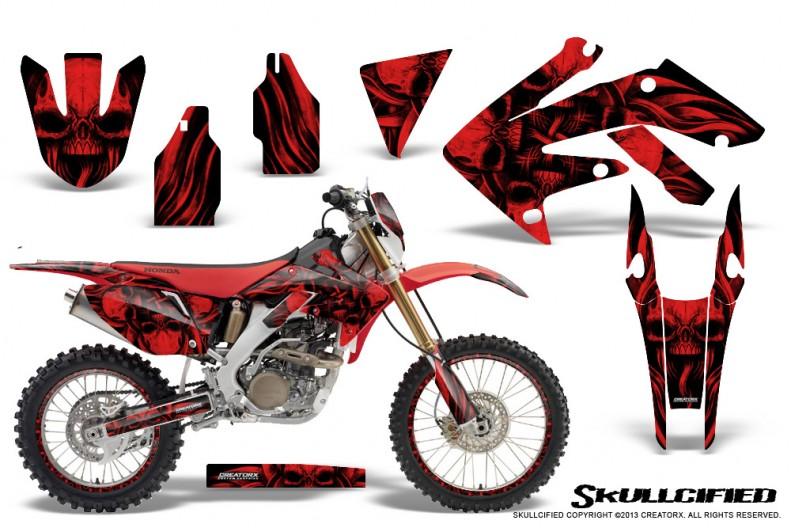 Honda-CRF-250X-04-12-CreatorX-Graphics-Kit-Skullcified-Red-NP-Rims
