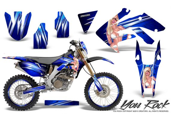 Honda CRF 250X 04 12 CreatorX Graphics Kit You Rock Blue NP Rims 570x380 - Honda CRF250X 2004-2018 Graphics
