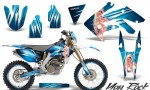 Honda CRF 250X 04 12 CreatorX Graphics Kit You Rock BlueIce NP Rims 150x90 - Honda CRF250X 2004-2018 Graphics