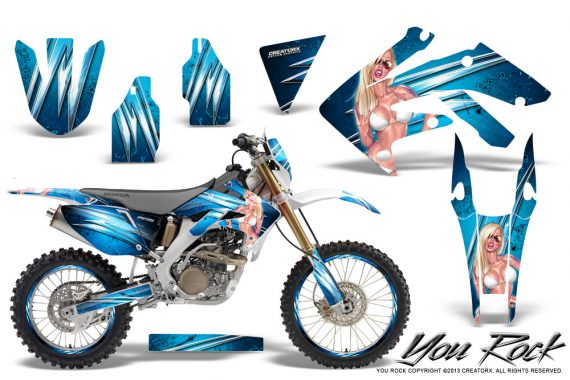 Honda CRF 250X 04 12 CreatorX Graphics Kit You Rock BlueIce NP Rims 570x380 - Honda CRF250X 2004-2018 Graphics