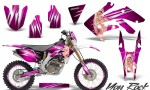 Honda CRF 250X 04 12 CreatorX Graphics Kit You Rock Pink NP Rims 150x90 - Honda CRF250X 2004-2018 Graphics