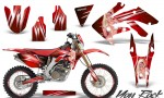 Honda CRF 250X 04 12 CreatorX Graphics Kit You Rock Red NP Rims 150x90 - Honda CRF250X 2004-2018 Graphics