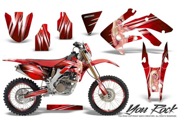 Honda CRF 250X 04 12 CreatorX Graphics Kit You Rock Red NP Rims 570x380 - Honda CRF250X 2004-2018 Graphics