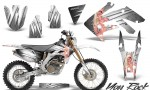 Honda CRF 250X 04 12 CreatorX Graphics Kit You Rock White NP Rims 150x90 - Honda CRF250X 2004-2018 Graphics