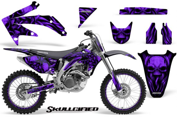 Honda CRF 450R 05 08 CreatorX Graphics Kit Skullcified Purple NP Rims 570x376 - Honda CRF450R 2002-2012 Graphics