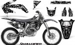 Honda CRF 450R 05 08 CreatorX Graphics Kit Skullcified Silver NP Rims 150x90 - Honda CRF450R 2002-2012 Graphics