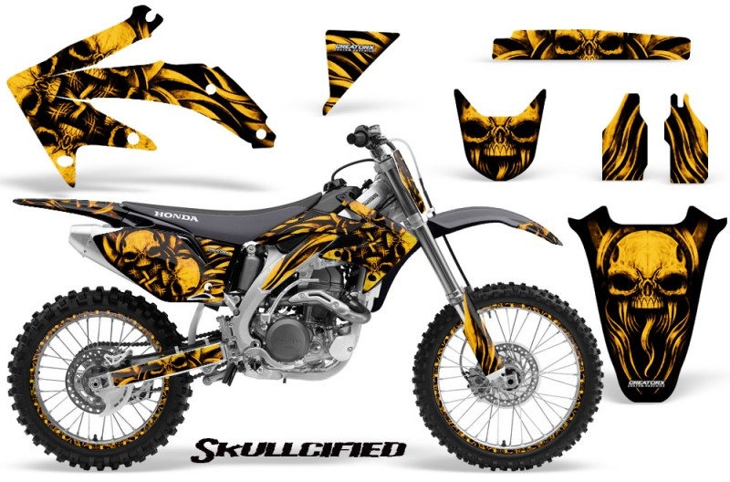 Honda-CRF-450R-05-08-CreatorX-Graphics-Kit-Skullcified-Yellow-NP-Rims