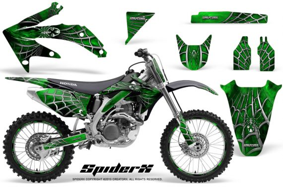 Honda CRF 450R 05 08 CreatorX Graphics Kit SpiderX Green NP Rims 570x376 - Honda CRF450R 2002-2012 Graphics