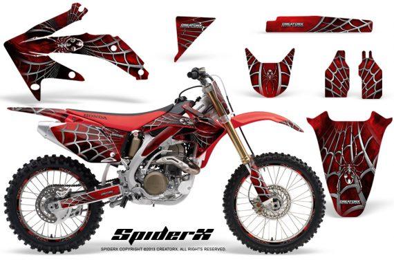 Honda CRF 450R 05 08 CreatorX Graphics Kit SpiderX Red NP Rims 570x376 - Honda CRF450R 2002-2012 Graphics