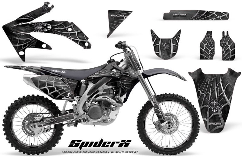 Honda-CRF-450R-05-08-CreatorX-Graphics-Kit-SpiderX-Silver-NP-Rims