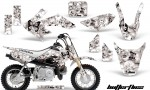 Honda CRF 50 AMR Graphics Kit BF BW 150x90 - Honda CRF50 2004-2015 Graphics