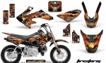 Honda CRF 50 AMR Graphics Kit FS B 150x90 - Honda CRF50 2004-2015 Graphics