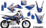 Honda CRF 50 AMR Graphics Kit TB BL 150x90 - Honda CRF50 2004-2015 Graphics