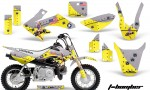 Honda CRF 50 AMR Graphics Kit TB Y 150x90 - Honda CRF50 2004-2015 Graphics