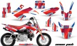 Honda CRF 50 AMR Graphics Kit UJ 150x90 - Honda CRF50 2004-2015 Graphics