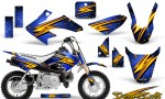 Honda CRF 50 CreatorX Graphics Kit Speed Bolts Blue 150x90 - Honda CRF50 2004-2015 Graphics