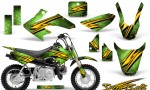 Honda CRF 50 CreatorX Graphics Kit Speed Bolts Green 150x90 - Honda CRF50 2004-2015 Graphics