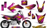 Honda CRF 50 CreatorX Graphics Kit Speed Bolts Pink 150x90 - Honda CRF50 2004-2015 Graphics