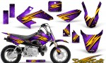 Honda CRF 50 CreatorX Graphics Kit Speed Bolts Purple 150x90 - Honda CRF50 2004-2015 Graphics