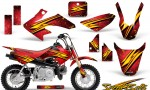 Honda CRF 50 CreatorX Graphics Kit Speed Bolts Red 150x90 - Honda CRF50 2004-2015 Graphics