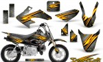 Honda CRF 50 CreatorX Graphics Kit Speed Bolts Silver 150x90 - Honda CRF50 2004-2015 Graphics