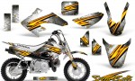 Honda CRF 50 CreatorX Graphics Kit Speed Bolts White 150x90 - Honda CRF50 2004-2015 Graphics