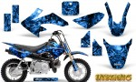 Honda CRF 50 Graphics Kit Inferno Blue 150x90 - Honda CRF50 2004-2015 Graphics