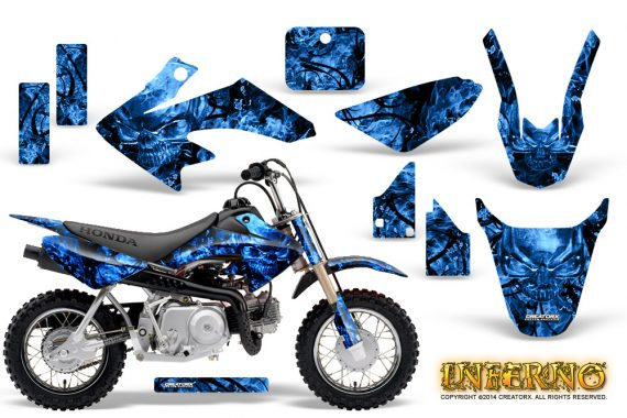 Honda CRF 50 Graphics Kit Inferno Blue 570x380 - Honda CRF50 2004-2015 Graphics