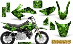 Honda CRF 50 Graphics Kit Inferno Green 150x90 - Honda CRF50 2004-2015 Graphics