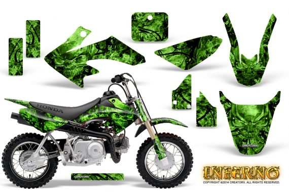 Honda CRF 50 Graphics Kit Inferno Green 570x380 - Honda CRF50 2004-2015 Graphics