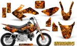 Honda CRF 50 Graphics Kit Inferno Orange 150x90 - Honda CRF50 2004-2015 Graphics