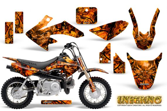 Honda CRF 50 Graphics Kit Inferno Orange 570x380 - Honda CRF50 2004-2015 Graphics