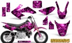 Honda CRF 50 Graphics Kit Inferno Pink 150x90 - Honda CRF50 2004-2015 Graphics