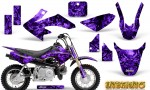 Honda CRF 50 Graphics Kit Inferno Purple 150x90 - Honda CRF50 2004-2015 Graphics