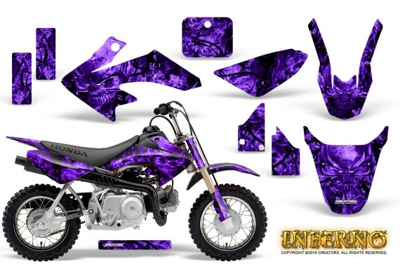 Honda CRF 50 Graphics Kit Inferno Purple 570x380 - Honda CRF50 2004-2015 Graphics