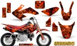 Honda CRF 50 Graphics Kit Inferno Red 150x90 - Honda CRF50 2004-2015 Graphics