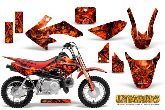 Honda CRF 50 Graphics Kit Inferno Red 570x380 - Honda CRF50 2004-2015 Graphics