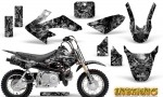 Honda CRF 50 Graphics Kit Inferno Silver 150x90 - Honda CRF50 2004-2015 Graphics