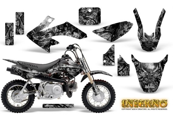 Honda CRF 50 Graphics Kit Inferno Silver 570x380 - Honda CRF50 2004-2015 Graphics