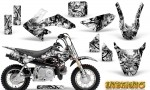 Honda CRF 50 Graphics Kit Inferno White 150x90 - Honda CRF50 2004-2015 Graphics