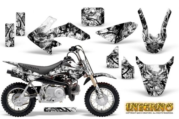 Honda CRF 50 Graphics Kit Inferno White 570x380 - Honda CRF50 2004-2015 Graphics