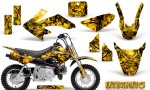 Honda CRF 50 Graphics Kit Inferno Yellow 150x90 - Honda CRF50 2004-2015 Graphics