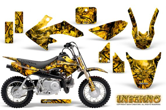 Honda CRF 50 Graphics Kit Inferno Yellow 570x380 - Honda CRF50 2004-2015 Graphics