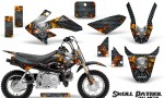 Honda CRF 50 Graphics Kit Skull Patrol 150x90 - Honda CRF50 2004-2015 Graphics