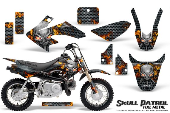 Honda CRF 50 Graphics Kit Skull Patrol 570x380 - Honda CRF50 2004-2015 Graphics