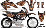 Honda CRF 80 100 2011 AMR Graphics Kit Black Firestorm 150x90 - Honda CRF80 CRF100 2011-2015 Graphics
