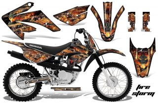 Honda CRF 80 100 2011 AMR Graphics Kit Black Firestorm 320x211 - Honda CRF80 CRF100 2011-2015 Graphics