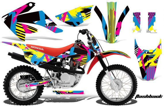 Honda CRF 80 100 2011 AMR Graphics Kit Flashback CK 570x376 - Honda CRF80 CRF100 2011-2015 Graphics