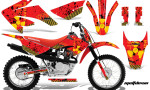 Honda CRF 80 100 2011 AMR Graphics Kit Meltdown RedBG CK 150x90 - Honda CRF80 CRF100 2011-2015 Graphics