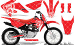 Honda CRF 80 100 2011 AMR Graphics Kit R WhiteRedBG CK 150x90 - Honda CRF80 CRF100 2011-2015 Graphics